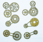 Creative Embellishments Gear Cluster Laser Cut Chipboard - 12 piece set