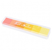 Quality Gradient Oil Based Ink pad Signet For Paper Wood Craft Rubber Stamp Yellow