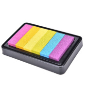 NEW Gradient Oil Based Ink pad Signet For Paper Wood Craft Rubber Stamp Colour Neon