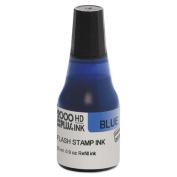 Self-Inking Refill Ink, Blue, 270ml, Bottle