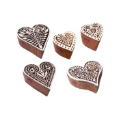 Popular Shapes Leaf and Heart Wooden Stamps for Printing