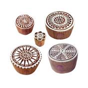 Designer Pattern Mix and Round Wood Print Blocks