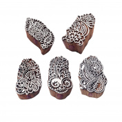 Original Shapes Floral and Paisley Wooden Stamps for Printing