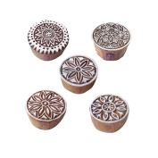 Designer Pattern Floral and Round Wood Print Blocks