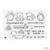 Winter's Lovely Penguins Design Clear Stamps for Scrapbooking DIY Photo Decoration Card Marking Crafts Supplies