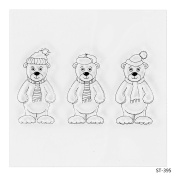 Cute Bears Design Clear Stamps for Scrapbooking DIY Photo Decoration Card Marking Crafts Supplies