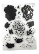 Zeroyoyo 1 Sheet Silicone Transparent Stamp Seal Big Peony Flower DIY Scrapbooking Album Clear Stamps