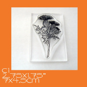 C1 Thistle flowers Clear Stamp, Mounted