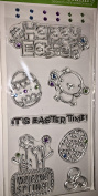 Hampton Art Happy Easter Gem Set Clear Stamps
