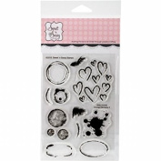 Sweet N Sassy Stamps SNS15038 10cm x 15cm . Clear Stamps - Grunge Elements 2