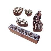 Retro Designs Animal and Giraffe Wooden Block Stamps