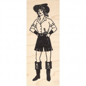 Pirate Girl Rubber Stamp