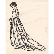Victorian Lady in Waiting Rubber Stamp