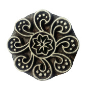 Textile Printing Floral Design Block Clay Potter Handcrafted Heena Tattoo Scrapbook Stamps