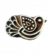 Wooden Textile Printing Bird Block Handcrafted Clay Potter Craft Heena Tattoo Scrapbook Stamps