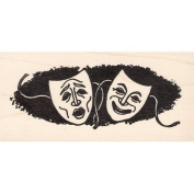 Comedy & Tragedy Rubber Stamp