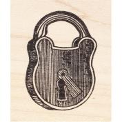 Old Antique Padlock Rubber Stamp