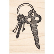 Key Ring With Keys Rubber Stamp
