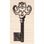 Ornate Antique Skeleton Key Rubber Stamp