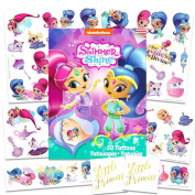 Nick Jr Shimmer and Shine Tattoos Party Favours Set ~ 50 Temporary Tattoos, 2 Little Princess Stickers