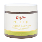 Pure Fiji Coconut Lime Blossom Coconut Sugar Rub 457ml/15.5oz