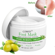 Foot Cream, Foot Mask , Callus Remover Cream , Foot Repair Cream with olive oil Moisturises and Rehydrates Feet - For Thick, Cracked, Rough, Dead & Dry Feet
