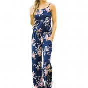 Ladies Jumpsuit ,Enjocho Womens Sexy Floral Print Sleeveless Drawstring Playsuit Long Pants