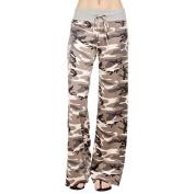 Women Pencil Pants,Enjocho Summer Laies Camouflage Drawstring Fashion Loose Mid Waist Leggings