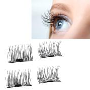 Magnetic Eyelashes, Hunzed Ultra-thin 0.4mm Eye Lashes Reusable Natural False Magnet Eyelashes Makeup Hand Made Eyelashes