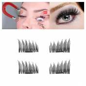 Magnetic Eyelashes,Hunzed Ultra-thin Natural Eyelashes 3D Reusable False Magnet Eye Lashes Extension Makeup Tool