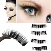 Promisen Magnetic Eye Lashes Ultra-thin 0.2mm 3D False Eyelashes Reusable Magnetic Eye Lashes