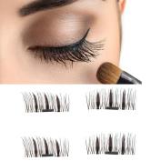 Magnetic False Eyelashes,Elevin(TM)4PCs Women Ladies NEW Ultra-thin 0.5mm Magnetic Eye Lashes 3D Reusable False Magnet Eyelashes Extension