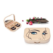 Magnetic Eyelashes Case ,Hunzed Natural Eyelashes Plastic Case Storage False Magnet Eye Lashes Mirro Box Makeup Cosmetic Mirror Case Organiser