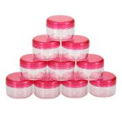 Le Fu Li 10Pcs 5g/ml Cosmetic Empty Jar Pot Eyeshadow Makeup Face Cream Container Bottle Fashion Design