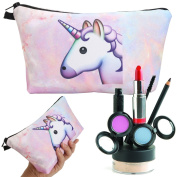 Makeup Bag, Essort Cosmetic Storage Organiser and Unicorn Makeup Bucket Toiletry Bag, Women Travel Makeup Bag and Pouch Cosmetic Purse Stationery Beauty Case Organiser, Portable Storage Carry Tote