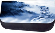 Jacks Outlet Mountain Wolf Nylon Lined Cosmetic Case