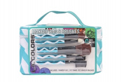 Teal Cosmetic Bag /Makeup Brushes Gift Set