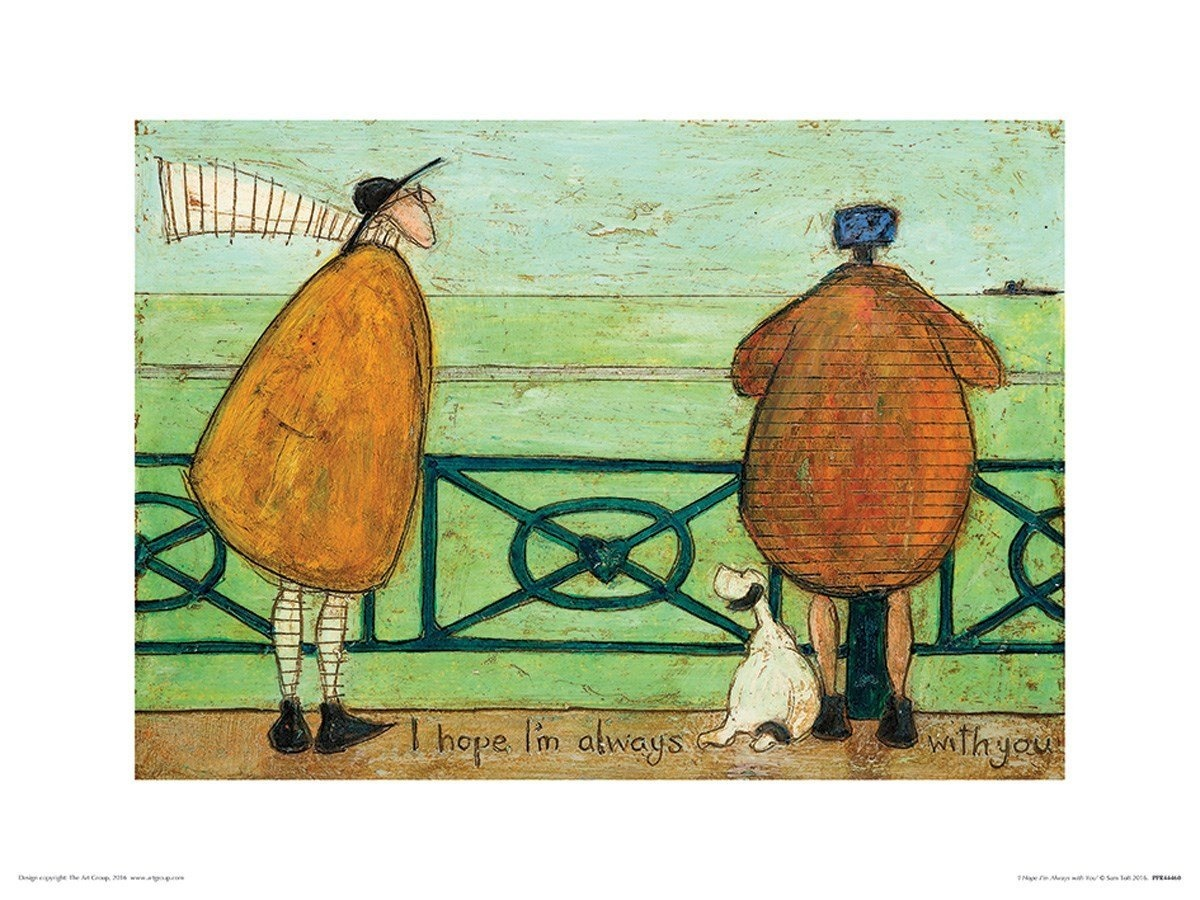 Multi-colour, The Art Group Sam Toft Hugs On The Way Home Canvas Print Cotton