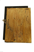 WOODEN MENU HOLDER OLD NATURAL LOOK WILL HOLD A4 size MENU LIST RESTAURANT PUB HOTEL DISPLAY SIGN