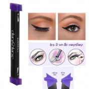 haosshop Eyeliner Stamp Seal Eyeliner Liquid With Brush Eye Makeup Set Easy Use