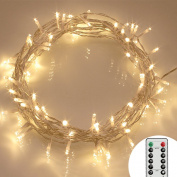 [Remote & Timer] 40 LED Outdoor Fairy Lights - 8 Modes Battery Operated String Lights