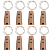 Mudder 8 Pack Bottle Lights Cork Shaped 20 Micro LEDs String Lights for Party Birthday Wedding Home Table Decor, Warm White, 1m