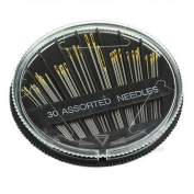 Sinfu 30PC Hand Sewing Needles Embroidery Mending Craft Quilt Sew Case