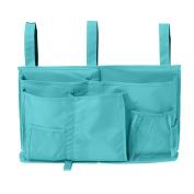 Startostar 8 Pocket Bedside Storage Bag Caddy Hanging Organiser with Updated Hook and loop Strap Design for Books - Best for Headboards, Bed Rails, Dorm Rooms,Bunk Beds, Hospital Beds
