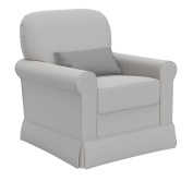 Storkcraft Avalon Upholstered Swivel Glider, London Fog