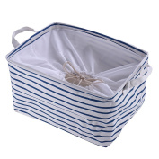 Canvas Basket,Fabric Storage Bin for Clothing Toy Basket,Baby Basket Organiser