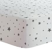 Kushies Change Pad Sheet Flannel, Scribble Stars Black & White