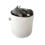 ICEBLUE XL Jumbo Cotton Rope Laundry Basket Toy Organiser Hamper with invisible handles