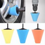 Wheel Hub Polish Buffing Shank Polishing Sponge Cone Metal Foam Pad Car 6MM ,Tuscom
