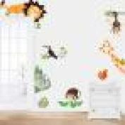 Wall Sticker , Jungle Animal Kids Baby Nursery Child Home Decor Mural Decal